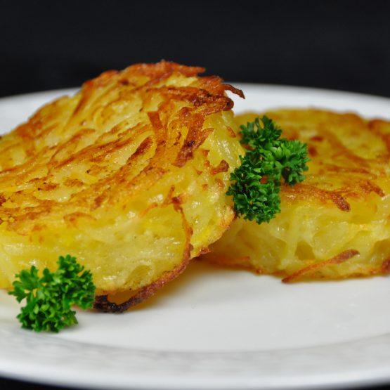galette de pommes de terre plat
