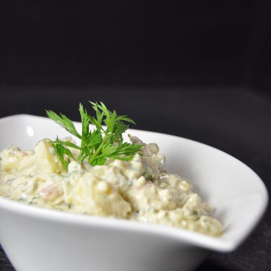 salade de pomme de terre plat