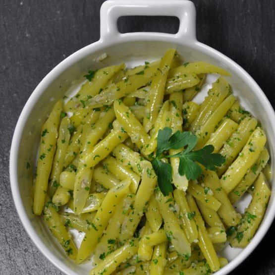 haricots blanc au beurre