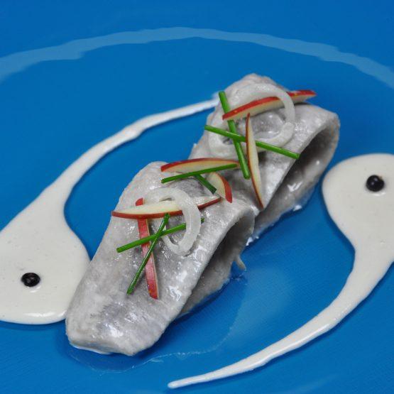 filet de hareng mariné plat