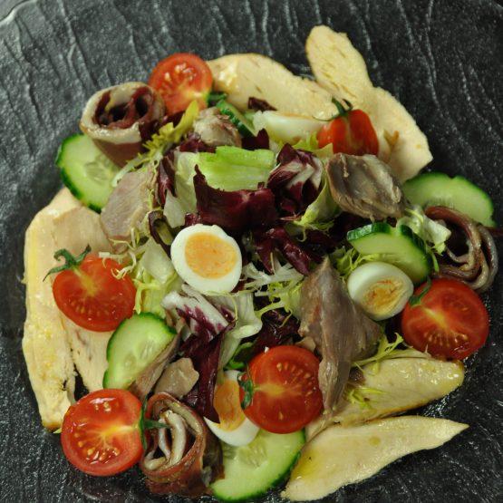 salade de volaille plat