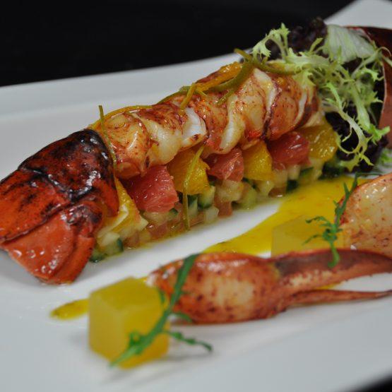 salade de homard plat