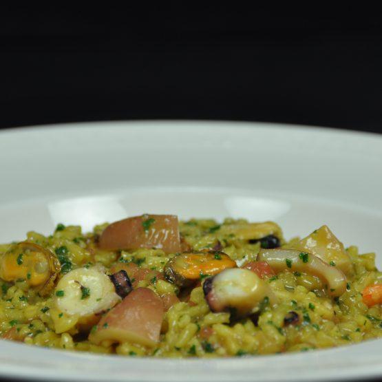 risotto aux fruits de mer plat