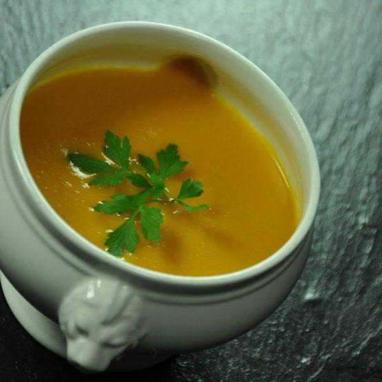soupe carotte gingembre plat