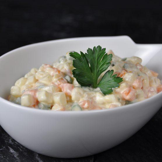 Macédoine de légumes plat