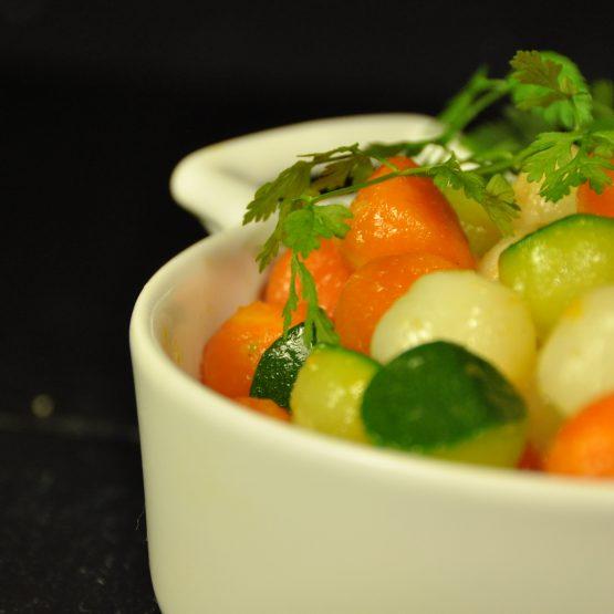 billes de légumes plat
