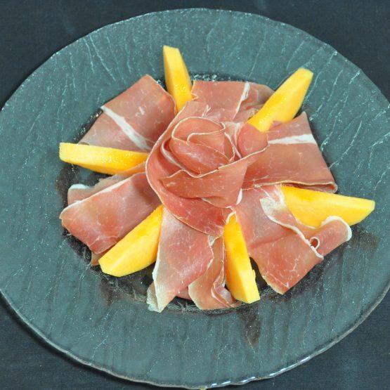 jambon melon plat